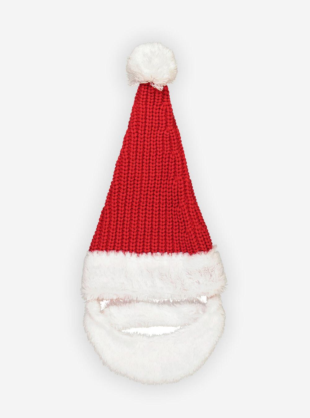 TDCQ Cappello di Natale Lavorato a Maglia,Cappellino Babbo,Cappello Babbo Natale Peluche,Cappellino di Natale Bambini,Cappello Babbo Natale,Cappellini Natale