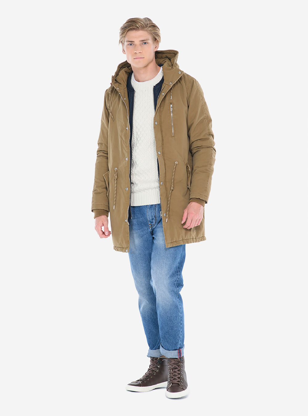 new style 8428f 4c161 PARKA CON FINTA GIACCA