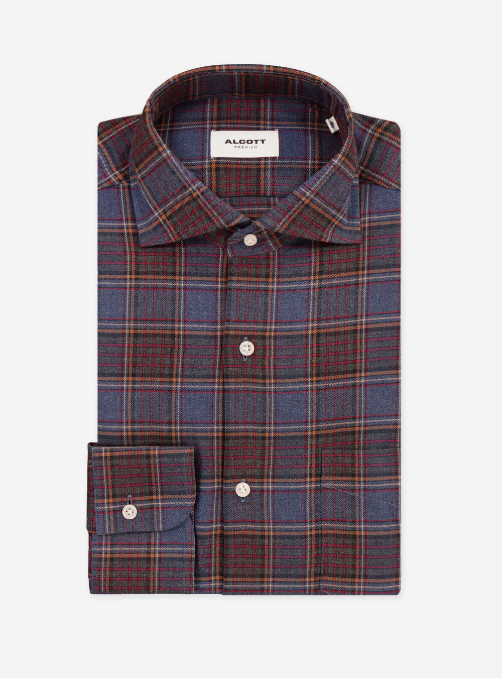 the latest 54f96 58f60 CAMICIA QUADRI CON TASCHINO E COLLO FRANCESE
