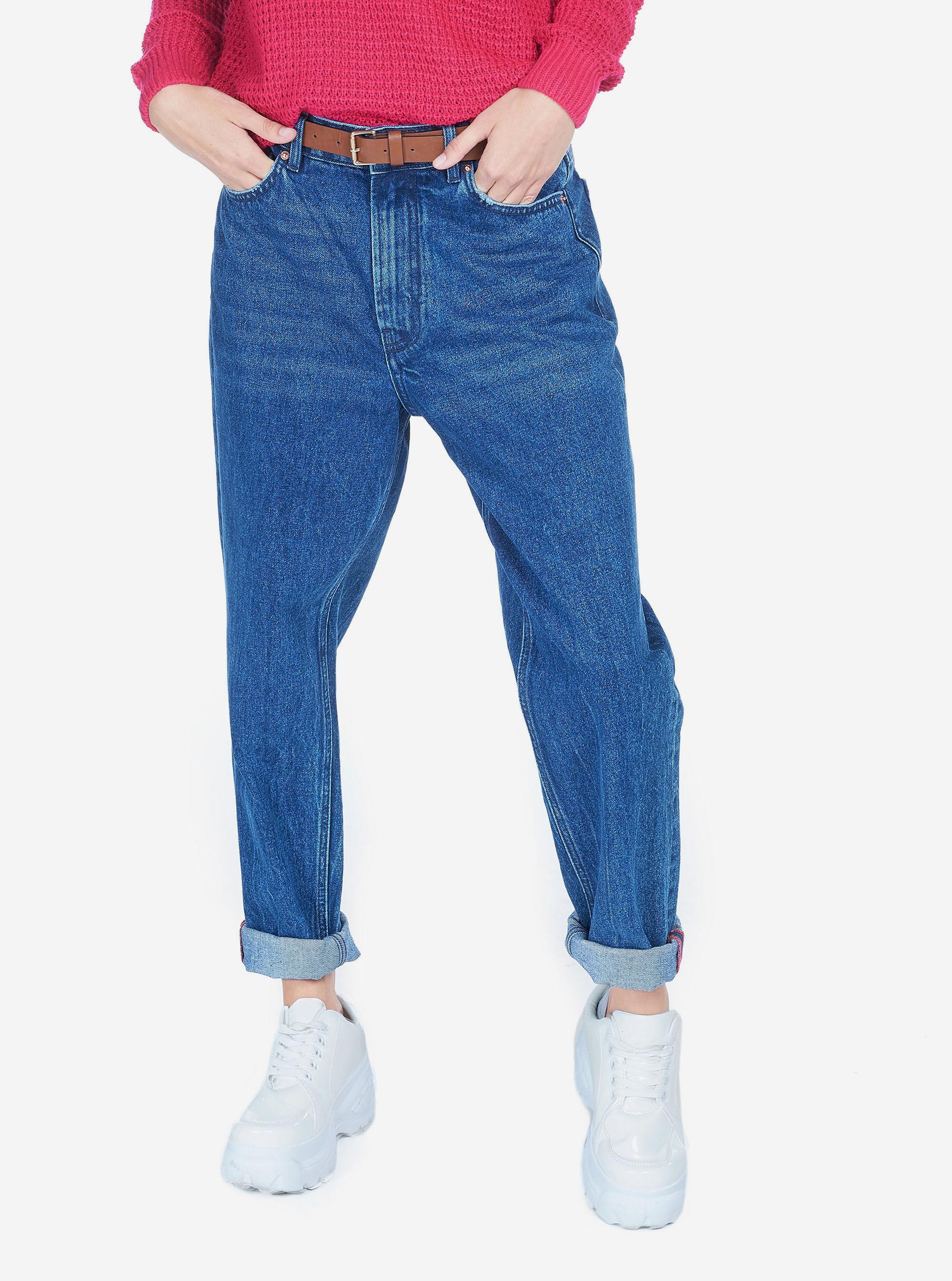 Pantaloni Slim Cigarette Blu Azzurri Donna   ESCALES