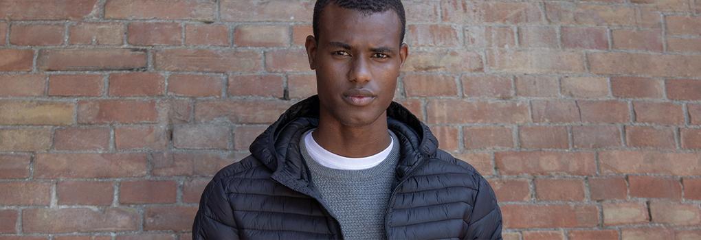 alcott bologna giacca nera uomo