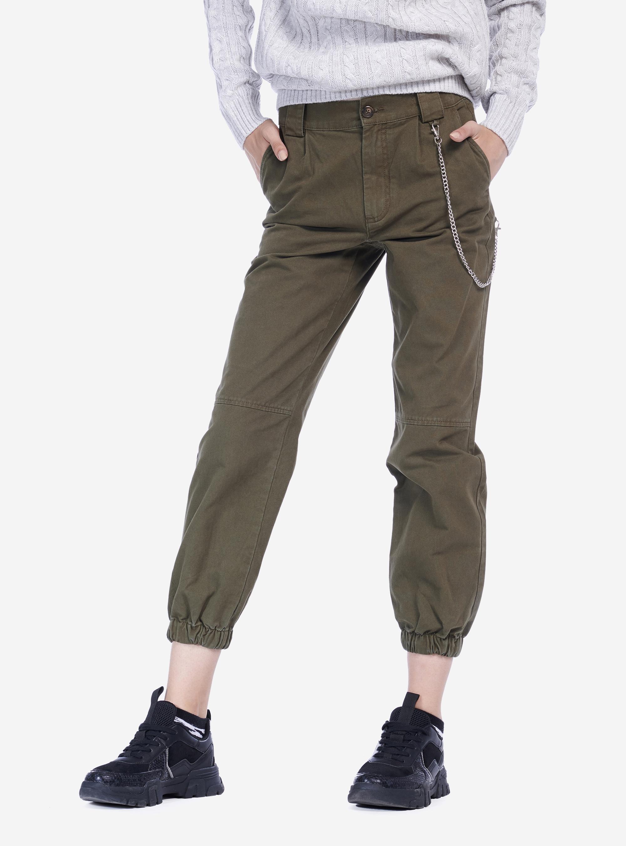 pantaloni per il tempo libero WEWINK CUKOO Pantaloni Capri da donna con tasche elastiche in vita